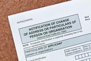 change of address document